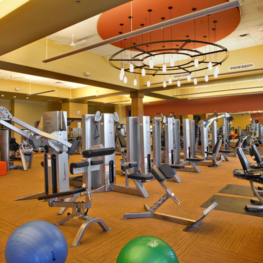 Fitness Center and Leasing Office at the Hudson