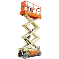 "JLG 2032ES Electric Scissor Lift Product Specifications • Platform Height: 20' • Width: 32"" • Platform Capacity: 800 lbs."